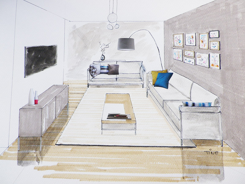 Perspective Dessin Salon : Perspectives l ange et le home art
